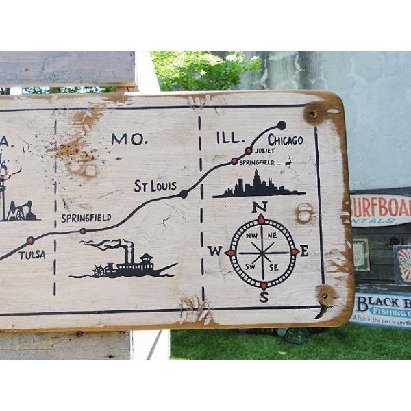 ルート66マップの木製看板 アメリカ雑貨 アメリカン雑貨|candytower|04