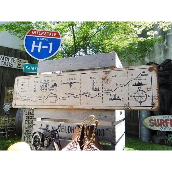 ルート66マップの木製看板 アメリカ雑貨 アメリカン雑貨|candytower|06