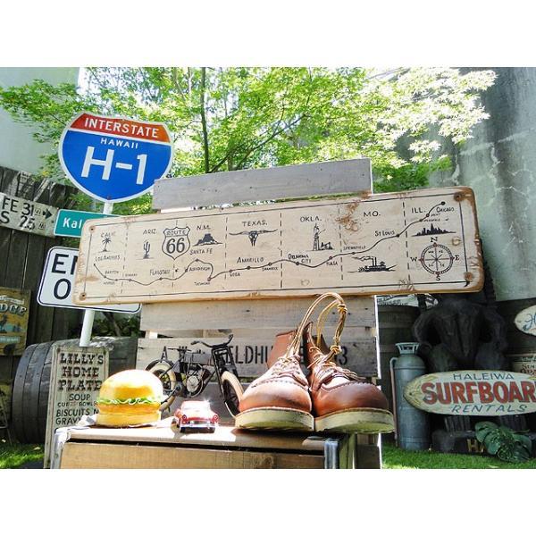 ルート66マップの木製看板 アメリカ雑貨 アメリカン雑貨|candytower|07