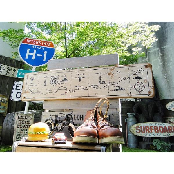 ルート66マップの木製看板 アメリカ雑貨 アメリカン雑貨|candytower|08
