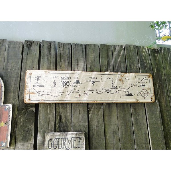 ルート66マップの木製看板 アメリカ雑貨 アメリカン雑貨|candytower|10