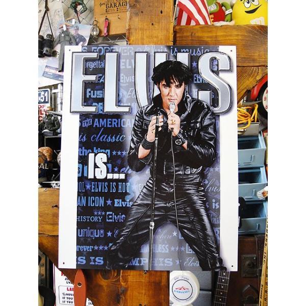 エルヴィス・プレスリーのブリキ看板Elvisis■アメリカ雑貨アメリカン雑貨サインプレートティンサインボード