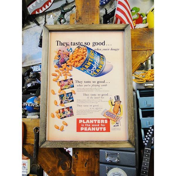 ポスターフレーム(ミスターピーナッツ/缶) ■ アメリカン雑貨 アメリカ雑貨