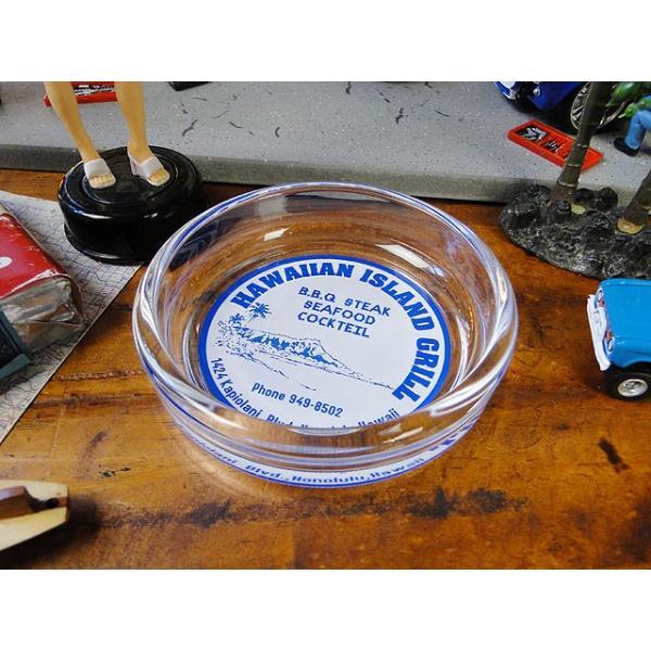ハワイアン・ガラスアシュトレイ(ダイヤモンドヘッド) ■ アメリカン雑貨 アメリカ雑貨 灰皿