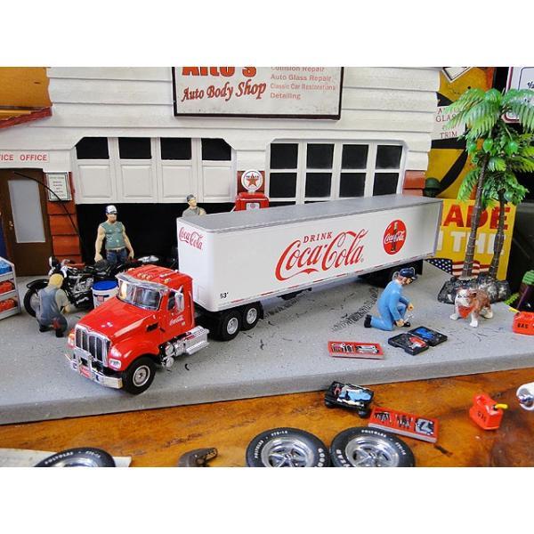コカ・コーラコンボイトレーラーのミニカートラクター&トレーラー1/50スケール■アメリカン雑貨アメリカ雑貨