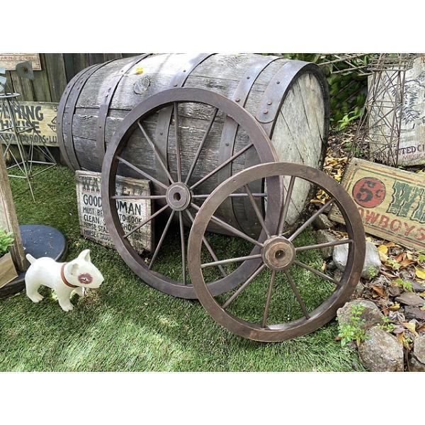 レトロな木製車輪 ウッドホイール(SとLの2サイズセット) ■ アメリカン雑貨 アメリカ雑貨