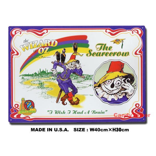 アメリカンブリキ看板 オズの魔法使い -かかし- アメリカ雑貨 アメリカン雑貨 サインプレート ティンサインボード インテリア 壁飾り 人気 おしゃれ