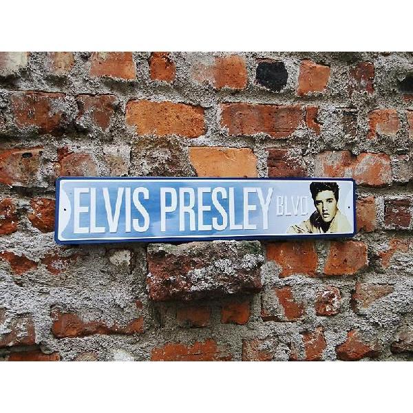 エルヴィス・プレスリーのストリートサインアメリカ雑貨アメリカン雑貨