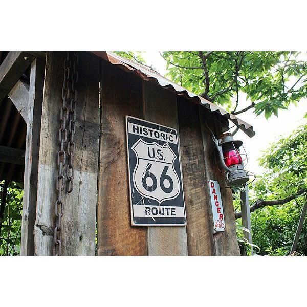 昔のルート66のウッドサイン(ヒストリックルート66/縦) アメリカ雑貨 アメリカン雑貨 おしゃれなガレージ 壁掛け インテリア 木製看板|candytower|02