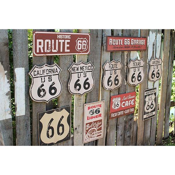 昔のルート66のウッドサイン(ヒストリックルート66/縦) アメリカ雑貨 アメリカン雑貨 おしゃれなガレージ 壁掛け インテリア 木製看板|candytower|04