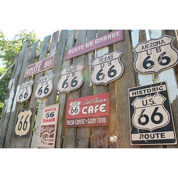 昔のルート66のウッドサイン(ヒストリックルート66/縦) アメリカ雑貨 アメリカン雑貨 おしゃれなガレージ 壁掛け インテリア 木製看板|candytower|05