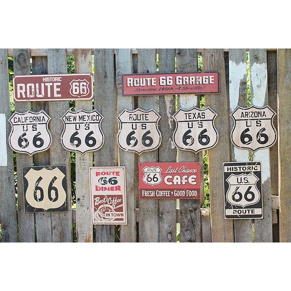 昔のルート66のウッドサイン(ヒストリックルート66/縦) アメリカ雑貨 アメリカン雑貨 おしゃれなガレージ 壁掛け インテリア 木製看板|candytower|06