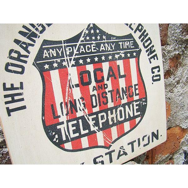 昔のアドバタイジングのウッドサイン(テレフォン) アメリカ雑貨 アメリカン雑貨 壁掛け インテリア おしゃれな部屋 人気 カントリー雑貨|candytower|02