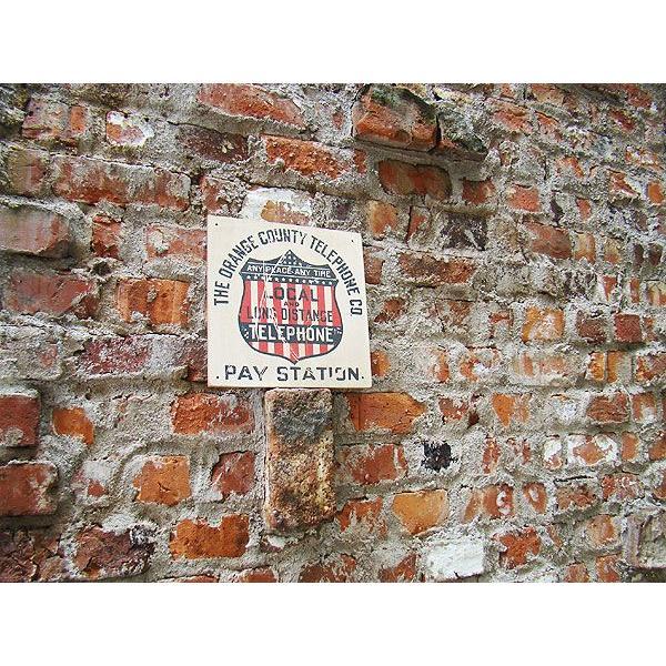 昔のアドバタイジングのウッドサイン(テレフォン) アメリカ雑貨 アメリカン雑貨 壁掛け インテリア おしゃれな部屋 人気 カントリー雑貨|candytower|03