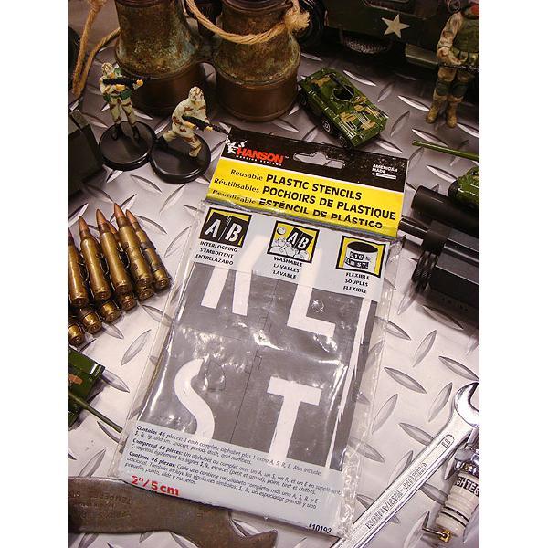 HANSON社 プラスチック・ステンシルプレート 46ピース英数字セット(5サイズオールセット) アメリカ雑貨 アメリカン雑貨|candytower|03