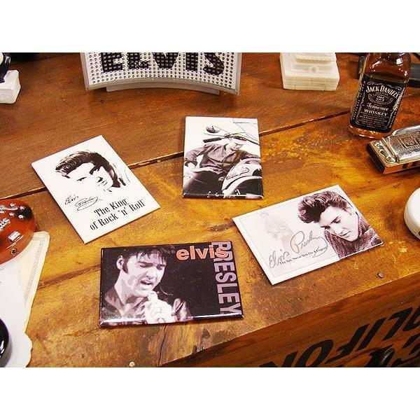 エルヴィス・プレスリーのマグネットシート4枚セットアメリカン雑貨アメリカ雑貨