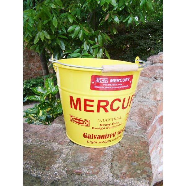 マーキュリーバケツ(イエロー)  ■ アメリカン雑貨 アメリカ雑貨 MERCURY おしゃれ 人気 男前 生活雑貨