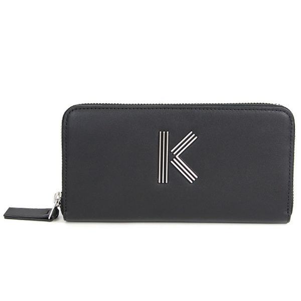 ケンゾー 財布 KENZO ラウンドファスナー長財布 (99 / BLACK) K-Bag leather wallet ロゴ財布 【F952PM301L01】