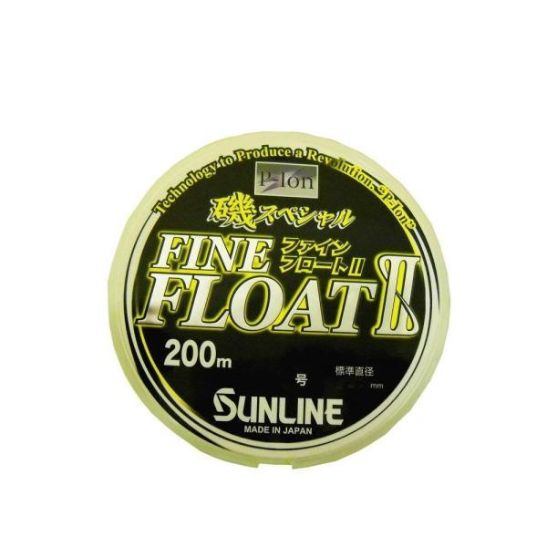 サンライン(SUNLINE) ナイロンライン 磯スペシャル ファインフロートII 200m 6号 ビビットイエロー
