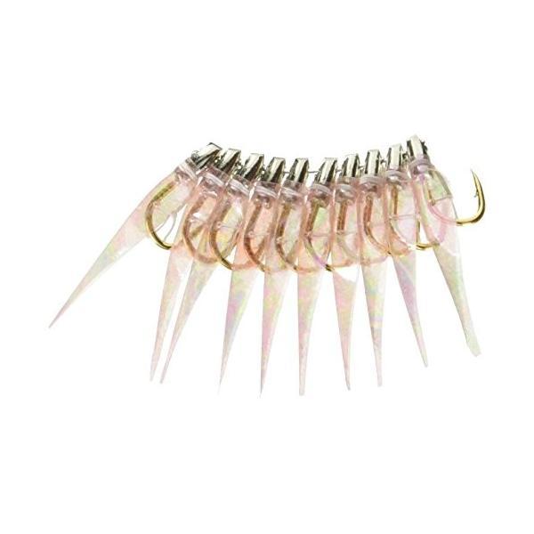 林釣漁具製作所 50本入 土佐かぶら 薄ピンクオーロラ皮丸型 金針 6号
