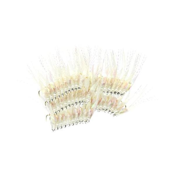 林釣漁具製作所 50本入 土佐かぶら ニューオーロラU皮・白毛アジ型 金針 5号
