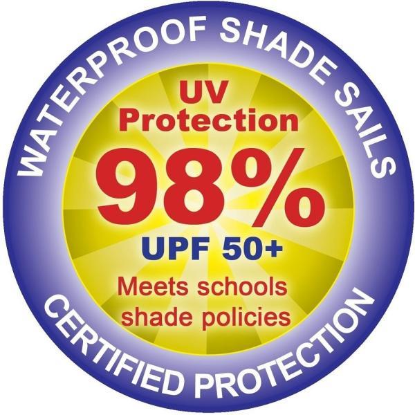 クッカバラ 日除けシェードセイル 砂色 3m正三角形 紫外線98%カット 防水タイプ OL0104SST|caply|07