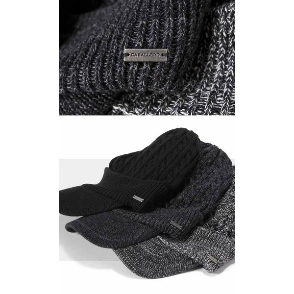 帽子 メンズ レディース ニット帽 つば付き ケーブル編み | キャバレロ Caballero (YP)|caponspotz|18