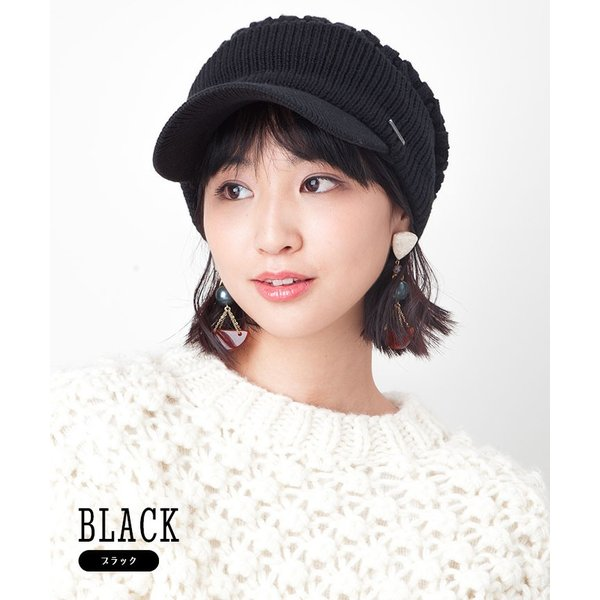 帽子 メンズ レディース ニット帽 つば付き ケーブル編み | キャバレロ Caballero (YP)|caponspotz|03