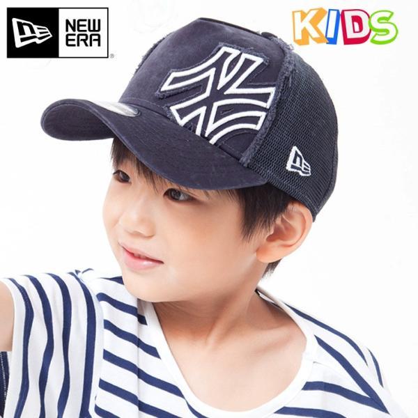 ニューエラ キッズ 子供用 メッシュキャップ 帽子 NEW ERA KIDS ヤンキース ネイビー|caponspotz