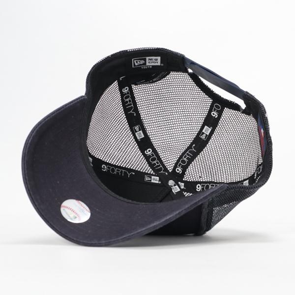 ニューエラ キッズ 子供用 メッシュキャップ 帽子 NEW ERA KIDS ヤンキース ネイビー|caponspotz|04