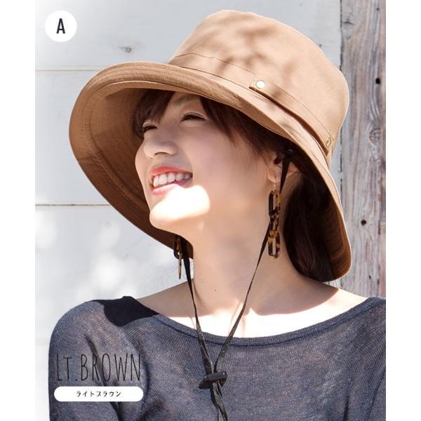 帽子 レディース 春 夏 UVカット UPF50+ コットン ハット | イロドリ irodori (MB)|caponspotz|11