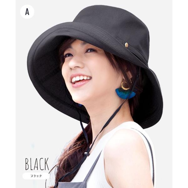 帽子 レディース 春 夏 UVカット UPF50+ コットン ハット | イロドリ irodori (MB)|caponspotz|05