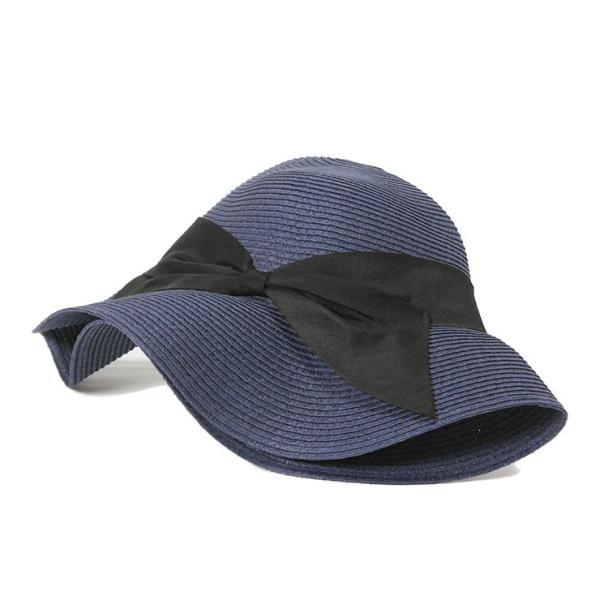帽子 レディース 春 夏 麦わら帽子 IRO リボン | イロドリ irodori (MB)|caponspotz|20