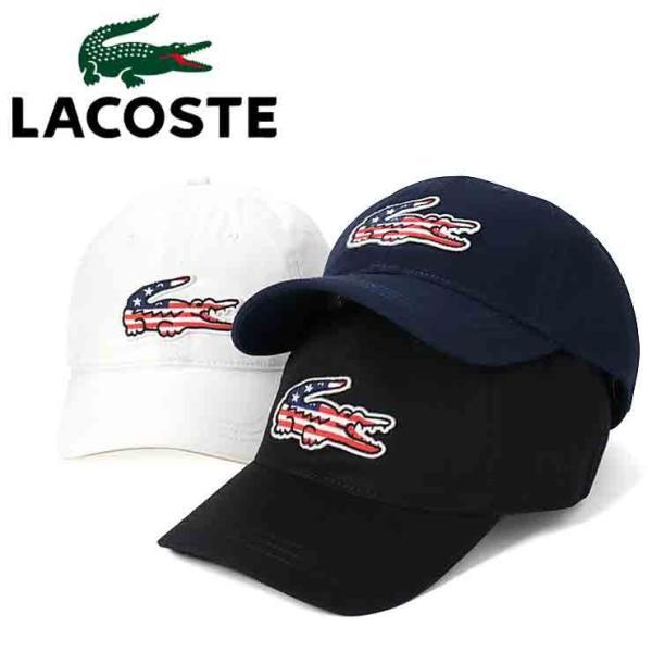 de047323e8e2c4 ラコステ キャップ 帽子 サイズ調整 BIG CROC USA LACOSTE メンズの画像