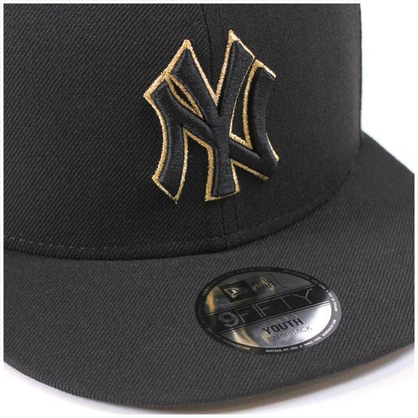 NEW ERA KIDS(ニューエラ キッズ) 9FIFTY スナップバックキャップ アンダーバイザー ニューヨーク ニューヨークヤンキース ブラック|caponspotz|05