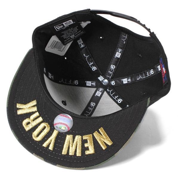 NEW ERA KIDS(ニューエラ キッズ) 9FIFTY スナップバックキャップ アンダーバイザー NY MLB ニューヨークヤンキース ブラック カモフラ 迷彩柄  KIDS|caponspotz|04