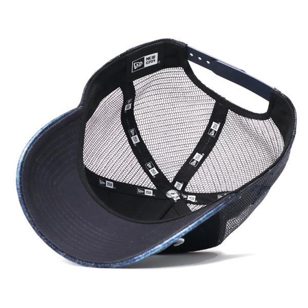 7455f57da66878 ニューエラ ゴルフ キャップ 帽子 スナップバック 9FORTY JAPAN DENIM ウォッシュドデニム/ネイビーメッシュ NEW