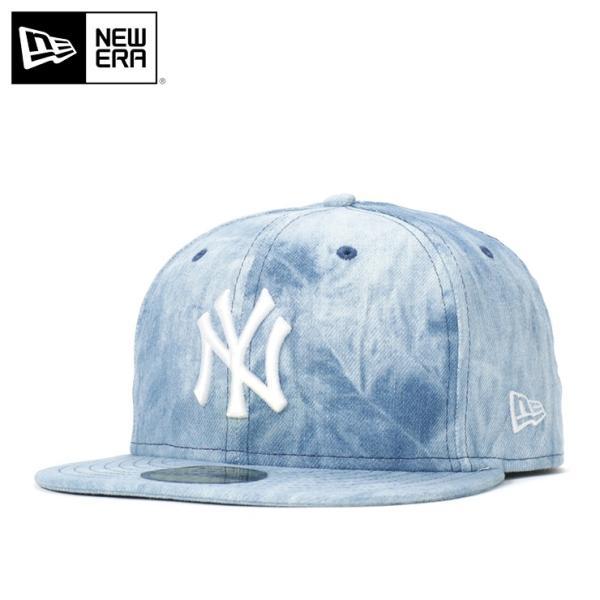 55f1bcc3b1b6e ニューエラ キャップ 帽子 59FIFTY TIE DYE DENIM MLB ニューヨーク ...
