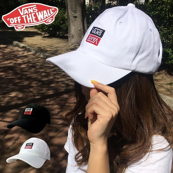 60d954adb5787 送料無料 VANS ローキャップ cap カーブキャップ バンズ ヴァンズ 帽子 ブラック ホワイト Reverse V Embroidery