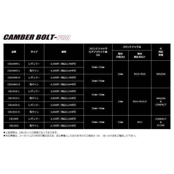 J-LINE(ジェーライン) キャンバーボルト プロ 鬼キャンタイプ CB12KO(2本セット)(要詳細確認)|car-cpc2|03