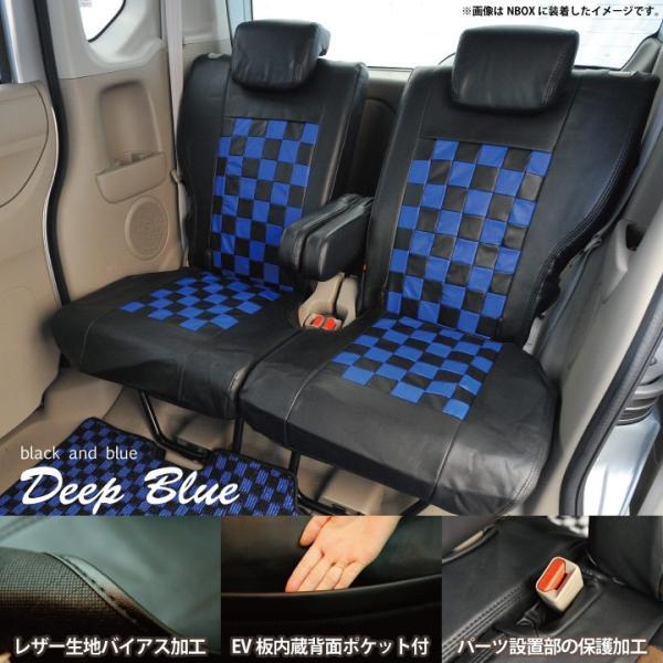 スズキ ハスラー シートカバー Z-style モノクロームチェック 軽自動車 車種専用 Z-style|car-seatcover|03