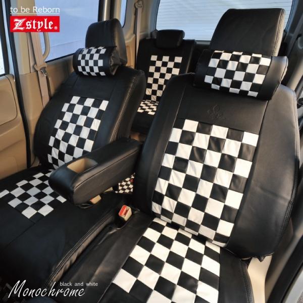 スズキ ハスラー シートカバー Z-style モノクロームチェック 軽自動車 車種専用 Z-style|car-seatcover|07
