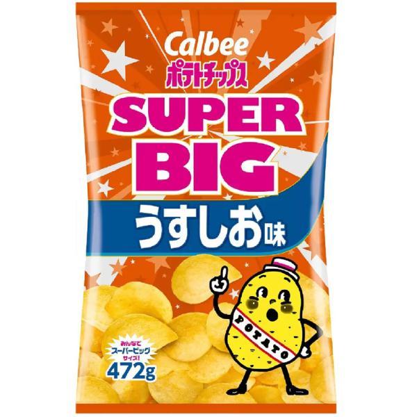 送料無料 calbee カルビー ポテトチップス SUPER BIG うすしお味 500g 大容量 輸入食材 輸入食品