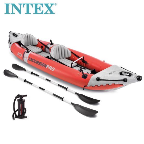 【INTEX インテックス】エクスカージョン プロ 2人用 インフレータブル カヤック【コストコ】フィッシング ボート 釣り Excursion Pro Tandem Inflatable Kayak