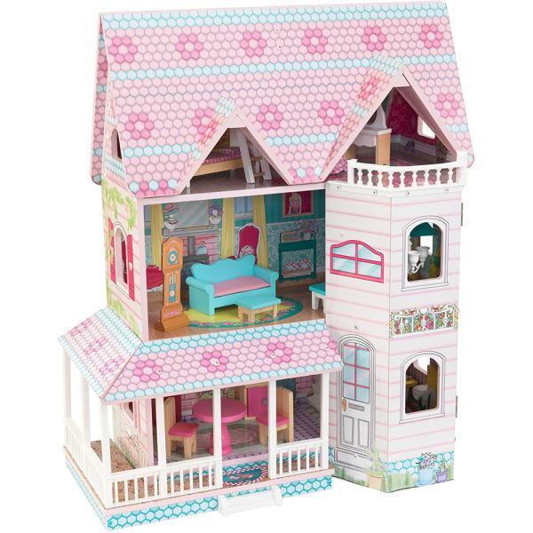 送料無料 costco コストコ KidKraft キッドクラフト アビー Abbey Manor ドールハウス 3階建て おもちゃ おままごと