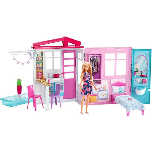 送料無料 costco コストコ Barbie バービー かわいいピンクのプールハウス ドール アクセサリー付き FXG55 ドールハウス ごっこ
