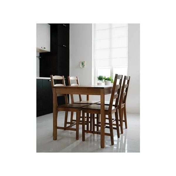 ダイニングテーブルセット IKEA・イケア リビングダイニングセット JOKKMOKK テーブル&チェア4脚, アンティークステイン(202.111.05)
