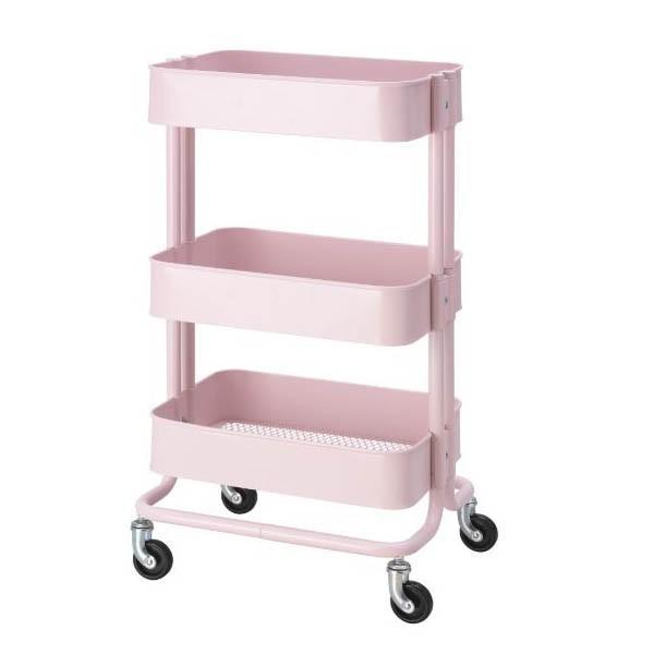 送料無料 IKEA イケア RASKOG ロースコグ ワゴン ライトピンク アイランドキッチン ワゴン