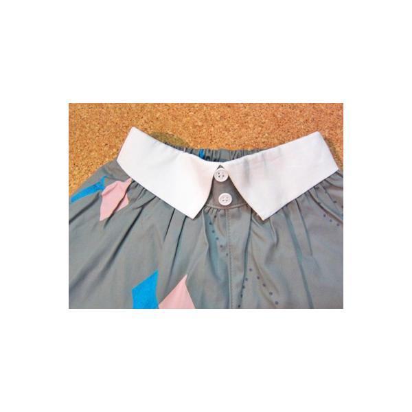 50%OFF SALE/WHIP CREAM ホイップクリーム ダイヤ柄シャツ衿付キュロット 80-120  17aw|caramelmama|02
