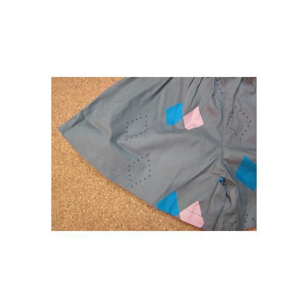 50%OFF SALE/WHIP CREAM ホイップクリーム ダイヤ柄シャツ衿付キュロット 80-120  17aw|caramelmama|03